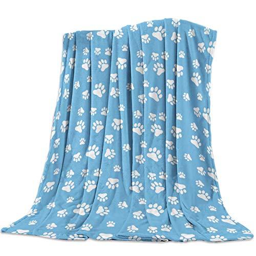 Manta Para Patrón de huellas de patas de perro colorido Blanket 125 X 100CM