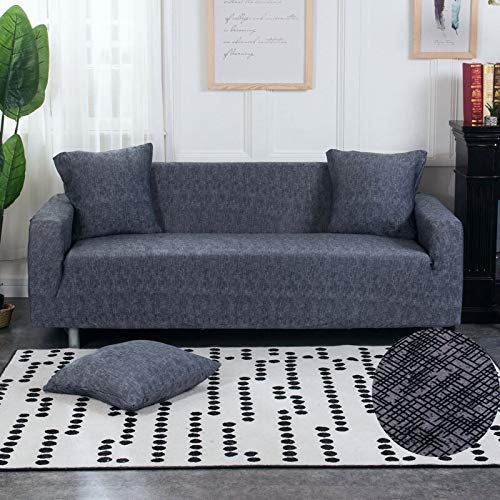 ASCV Stretch Sofa Slipcovers Elastic Stretch Sofa Cover for Living Room Couch Cover L Shape Armchair Cover A3 1 Seater