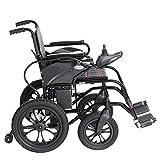 Silla de ruedas eléctrica Personas Mayores con discapacidades Andador con Ruedas Scooter de Cuatro Ruedas automáticas portátiles Plegables for los Ancianos