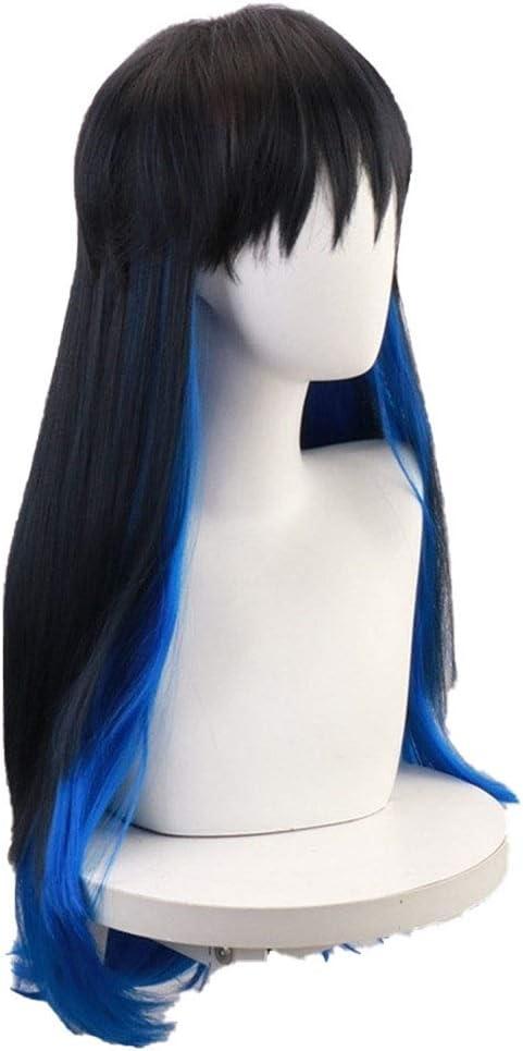 Max 54% OFF ZHCHL Pink Wig for Women Dark Blue Te Hair Gradient high List price