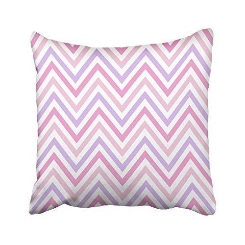 Funda de almohada decorativa para el hogar, 18 x 18 cm, diseño de chevron, colores pastel de primavera, rosa, blanco y morado, estampado de ráster abstracto, fundas de cojín decorativas, cuadradas para sofá, accesorio para el hogar, regalos
