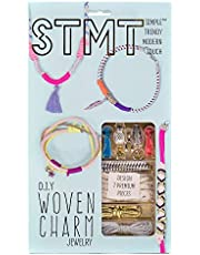 STMT DIY Woven Charm Jewelry Making Kit by Horizon Group Usa, Create Vsco Girl Stylishpieces using Trendy Charms, Colorful Cords, Natural Materials & More. Multicolored