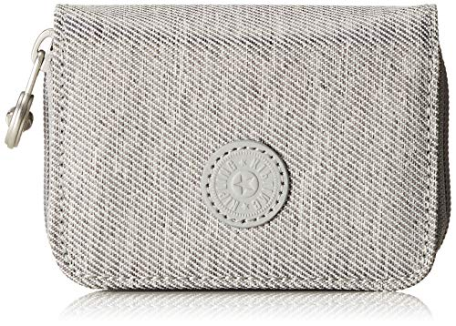 Kipling Damen Tops Geldbörse, Grau (Chalk Grey), 7.5x10x2.5 cm