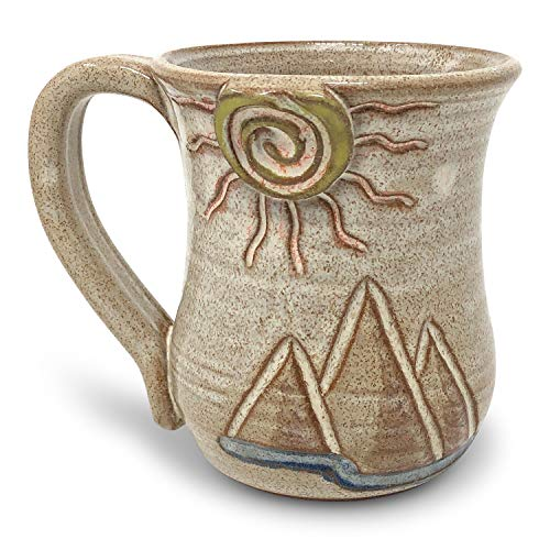MudWorks Pottery Special Edition Desert Mountains Mug, Handmade in the USA