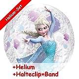 Set de globo de Frozen Anna & Elsa, relleno de helio, clip y cinta, para fiestas temáticas, cumpleaños infantiles, globos de helio, decoración para globos y helio