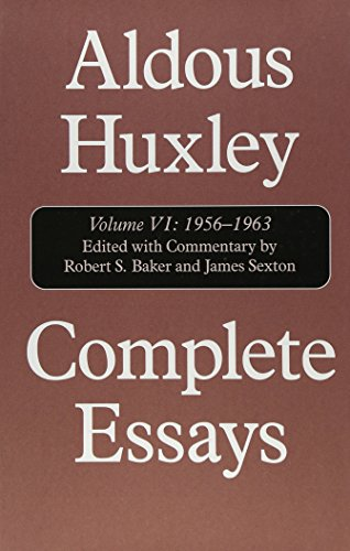 Complete Essays: 1956-1963 And Supplement, 1920-1948 (COMPLETE ESSAYS (ALDOUS HUXLEY))の詳細を見る