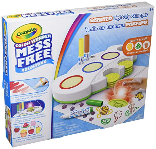 Crayola Color Wonder Light Up Stamper, Mess Free Coloring, Ages 3, 4, 5, 6, 7 , Gift for Girls and...