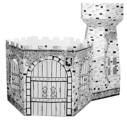 Ricco Kids 3D Cardboard Playhouse Toy for Colouring and Pretended Play (Castle Tower)