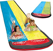Yunhigh Giant Splash Sprint Water Slide, Dual Racing Lanes and Splash Pool, Built in Sprinkler, 20 X 4.7 Ft