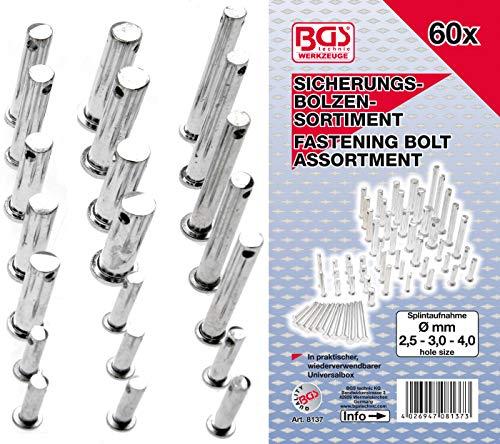BGS 8137 | Sicherungsbolzen-Sortiment | 60-tlg.