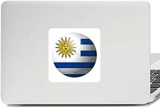 Adesivo de vinil para laptop com bandeira nacional do Uruguai futebol americano para decoração de PC
