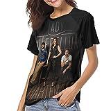 Lady Antebellum Band T Shirt Women's Raglan Sleeve Baseball Shirt Novelty Round Neck Tee Black