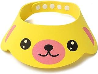 Ronshin Fashion Baby Shower Cap Earmuffs Shampoo Cap Adjustable Cartoon Shower Cap