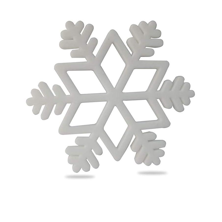 バット馬鹿げた露骨なACHICOO 歯がためおもちゃ 歯固め 赤ちゃん 噛む おもちゃ サンタクロース クリスマスツリー スノーフレーク シリコン ベビーティーザー おもちゃ スノーフレークホワイト
