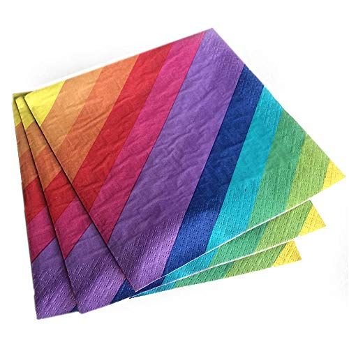 Rainbow Lunch Napkin, 2 Ply Paper