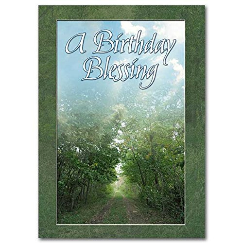 A Birthday Blessing Celtic Greeting Card with Embossed Envelope May the Road Rise Up Poem