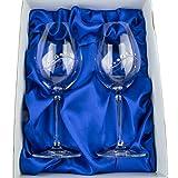Copas de vino hechas a mano con cristales Swarovski originales, un par