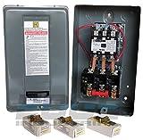 SQUARE D MAGNETIC MOTOR STARTER CONTROL 10HP 40AMP 208-230VOLT 3-PHASE FOR AIR COMPRESSOR ...