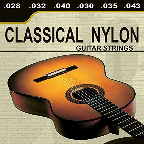 OcioDual Lote De 6 Cuerdas para Guitarra Clasica Española Classical Nylon Musica GF80310