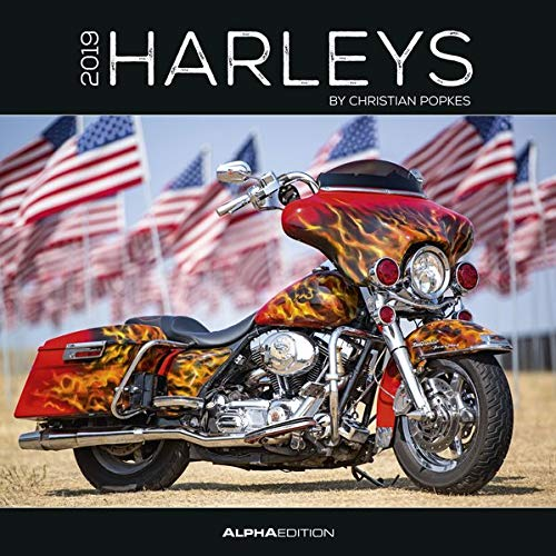 Harleys 2019 - Broschürenkalender (30 x 60 geöffnet) - Motorradkalender - Fahrzeuge - Wandplaner: by Christian Popkes