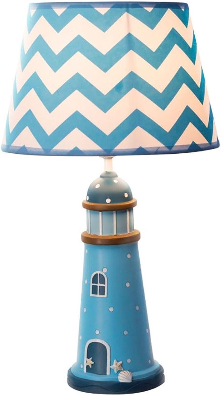XiuXiu Kinderzimmer Cartoon Blau Light Tischleuchte Schlafzimmer Nachttischlampe Modern Fashion Cute Warm Junge Mdchen Dekorative Tischlampe (Gre   L)