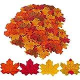 Gibot 400 piezas de hojas de arce artificiales de colores surtidos, otoño, arte de arce, decoración para Halloween, día de Acción de Gracias, bodas, hogar, interior y exterior, 4 colores