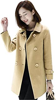 Sponsored Ad - IDEALSANXUN Wool Coat for Womens Double Breasted Peacoat Outwear