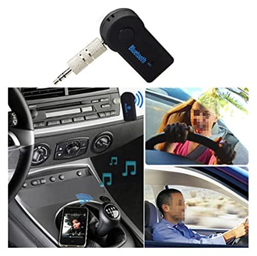 WANSHIDA QiQi Shop 2 en 1 Música inalámbrica Bluetooth Audio 5.0 Receptor 3.5mm Streaming Auto A2DP Auriculares AUX Adaptador AUX Conector Mic Hand Libre de automóvil PC