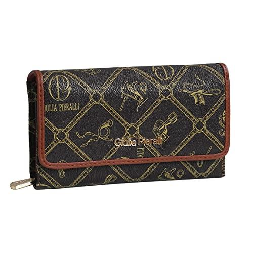 ZMOKA - Portafoglio da donna glamour XXL, in ecopelle, disponibile in diversi colori, marrone, taglia unica,