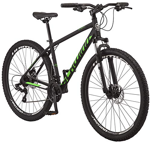 Schwinn High Timber ALX Youth/Adult Mountain Bike, Aluminum Frame and Disc Brakes, 29-Inch Wheels, 21-Speed, Black