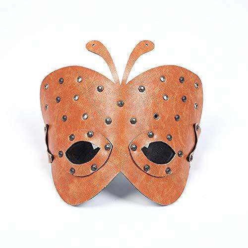 ZQQ Rollenspiel-Masken, Leder Pu Metall Tiermasken Wird für die Bar-Party Halloween Karneval Straße Props Abendkleid