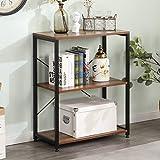 Estantería para libros de 3 niveles con estante de almacenamiento para el hogar, estante de almacenamiento, organizador resistente, 60 x 30 x 75 cm