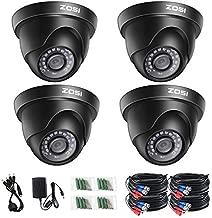 ZOSI 4 Pack 2.0 Megapixel HD 1080P 1920TVL HD-TVI Indoor Outdoor Dome Security Surveillance CCTV Camera Kit for 720P/1080N/1080P/5MP/4K HD-TVI, AHD, CVI Analog DVR