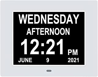 Digital Day Calendar Clocks with Medication Reminders 8 Alarms Extra Large Day Date Time AM/PM, Dementia Clock Perfect for...