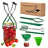 CORNMI 7 Piece Canning Kit Canning Supplies Set Canning Jar Lifter with Grip Handles, Stainless Steel Large Canning for Home Canning Supplies Kitchen Tool Anti-Scald Clip Suit