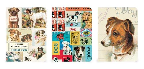 Cavallini 3er Pack Vintage Dogs 4von 14cm Mini Notebooks