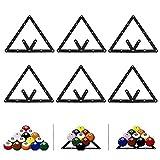 6Pcs / Set Pool Rack de Billar, Soporte de posicionamiento de Billar, Soporte de Bola Triangular para Mesa de Billar, Accesorios de posicionamiento de Soporte de Billar