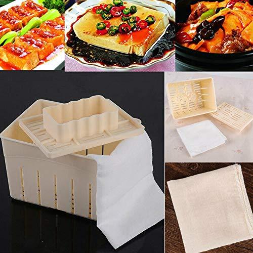 Molde de Tofu, Molde de Caja de Tofu de Plástico, Caja de Tofu de Plástico, Gadget de Cocina, El Tofu Es Cómodo Y Suave, Incluido Un Paño de Queso Reutilizable, La Gasa Es Transpirable, Suave