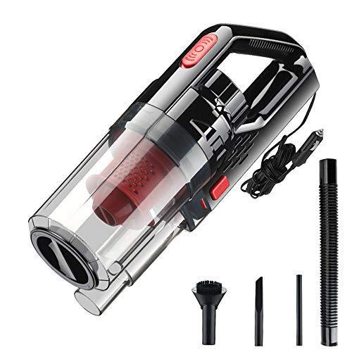 VISLONE - Aspiradora de mano portátil para coche (150 W, 12 V,...