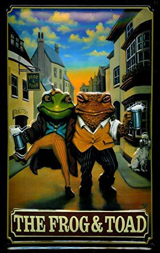 Pub World Memorabilia Letrero de Metal en Relieve 3D de Frog & Toad
