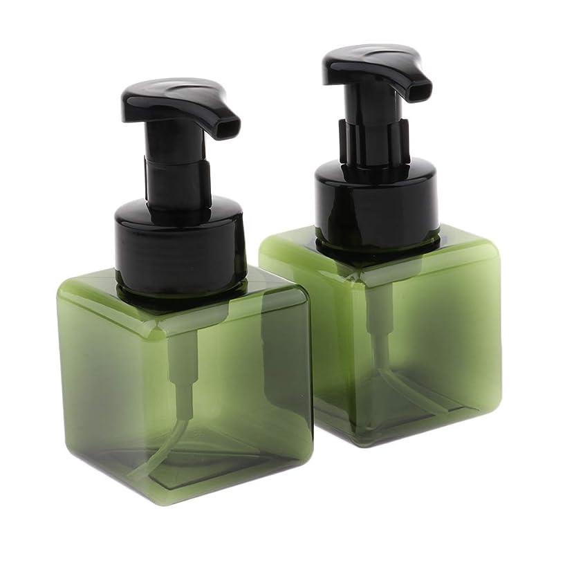 誕生さらに悲鳴D DOLITY 泡ポンプボトル 空ボトル 小分けボトル ディスペンサー 詰替ボトル 250ml 2個 全6色 - 濃い緑色