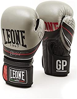 LEONE 1947 Boxing Gloves THE DOCTOR Leather MMA Muay Thai Kick Boxing K1 Training Punching Gloves - 10oz