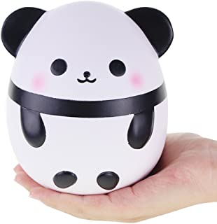 "VLAMPO Squishies Jumbo Panda 6.3"", Squishy Slow Rising Stress Relief Toys Time Killer Super Soft Funny Squeeze Toys Kawaii Scented Fragrant Charms Gifts Panda Egg for Kids&Adults"