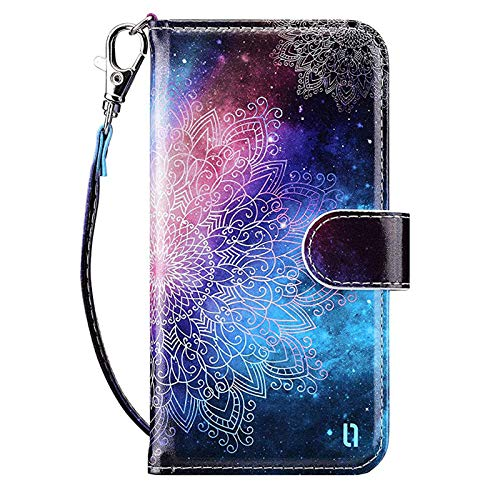 ULAK iPod Touch 7 Wallet Case iPod Touch 6 Case with Card Holder Premium PU Leather Magnetic Closure Protective Folio Cover for iPod Touch 7th/6th/5th Generation Mandala Floral