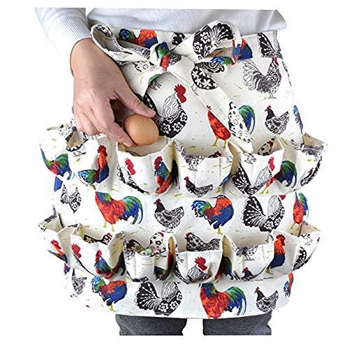 KDOI Eier Sammeln Halte Schürze Geeignet für Huhn, Ente, Gänse Ei, Bauernhaus, Küche, Haushalts Arbeits Kleidung, Erwachsener