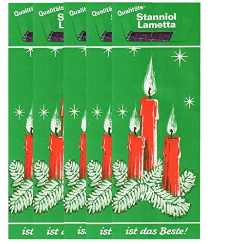 RW 5 Mappen à 12 g = 60 g (EUR 25,00/100g) Lametta Lila Violett Original echtes schweres Stanniol Bleilametta