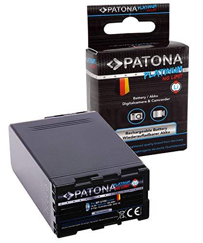 PATONA Platinum Batería BP-U100 con 2X D-Tap, Puerto USB, Compatible con Sony...