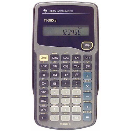 ti 30xa calculator - 6