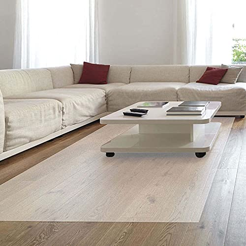 NKTJFUR Alfombrilla de protección para el suelo, 1,5 mm de grosor, 200 x 120 cm, rectangular, transparente, para oficina, piso de madera dura, antideslizante, mate (tamaño: 200 x 120 cm)