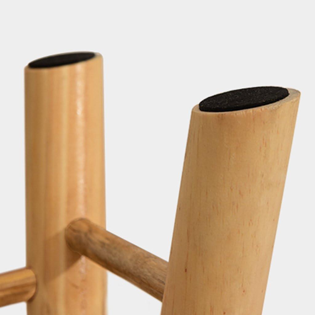 SHOP YJX Tabouret Rond Moderne Grand Siège en Bois Pouf Chaise Chaise Tabouret 4 Pieds Et Toile Amovible Couverture Salon Dressing Stool (Color : D) B